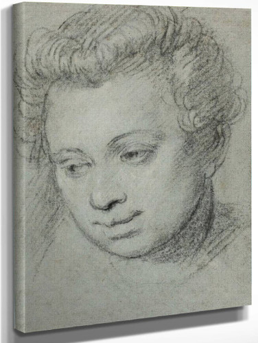 Head Of A Woman By Paolo Veronese