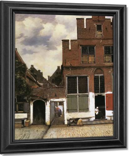 Street In Delft by Johannes Vermeer