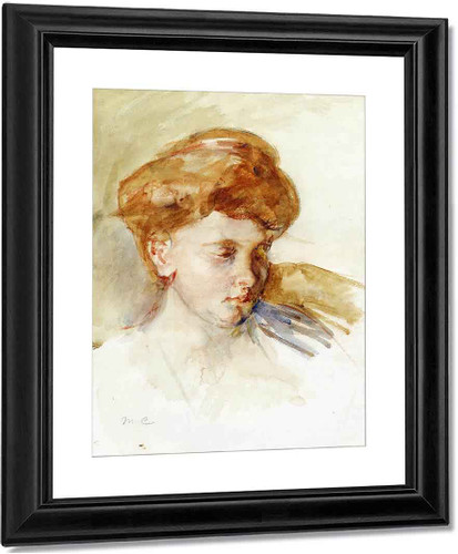 Head Of A Young Woman By Mary Cassatt