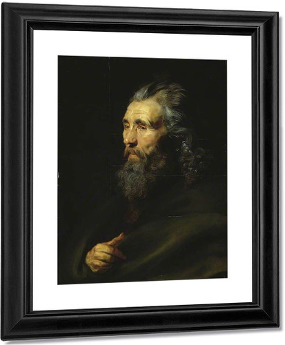 Head Study Of A Bearded Man By Peter Paul Rubens