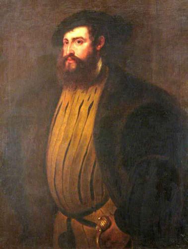 Hernan Cortez After Titian By Peter Paul Rubens