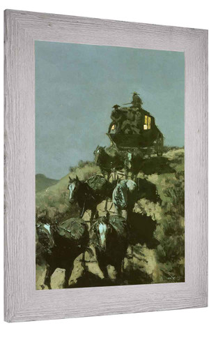 The Old Stagecoach Of The Plains Frederic Remington