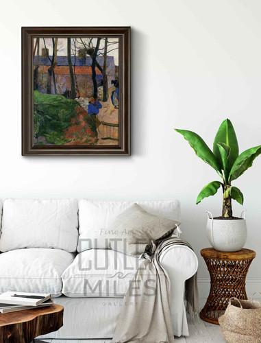 Houses In Le Pouldu By Paul Gauguin