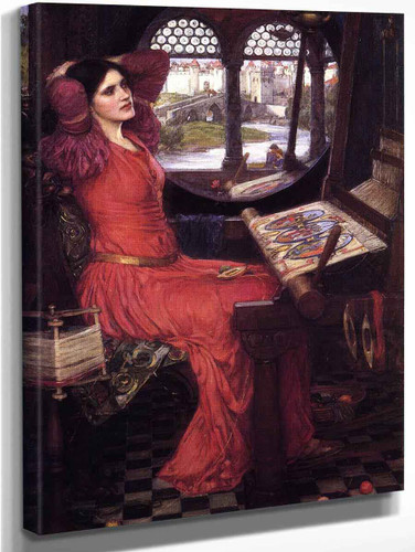 I Am Half Sick Of Shadows,' Said The Lady Of Shalott By John William Waterhouse Art Reproduction