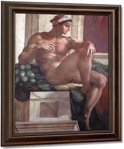 Ignudo15 By Michelangelo Buonarroti