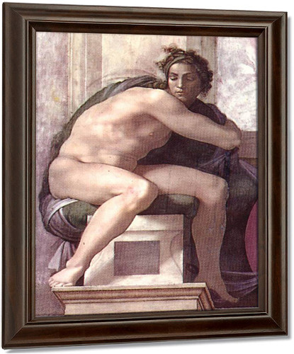 Ignudo16 By Michelangelo Buonarroti