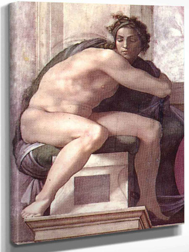 Ignudo16 By Michelangelo Buonarroti By Michelangelo Buonarroti
