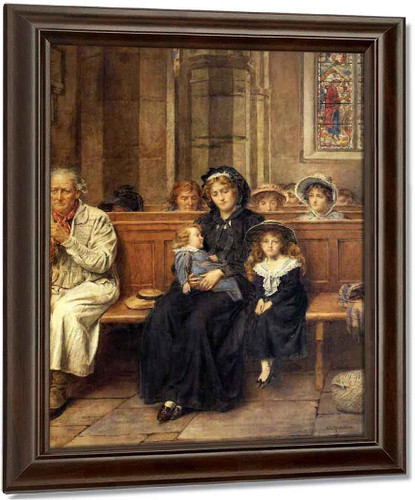 In The Church By George Goodwin Kilburne