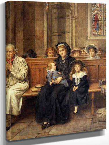 In The Church By George Goodwin Kilburne By George Goodwin Kilburne