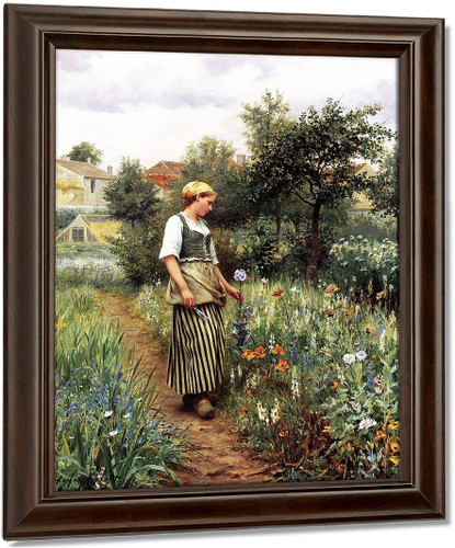 In The Garden By Daniel Ridgway Knight