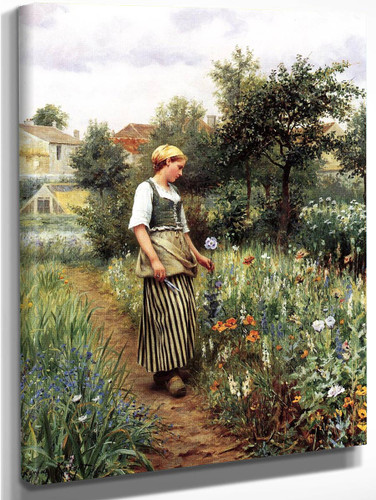 In The Garden By Daniel Ridgway Knight By Daniel Ridgway Knight