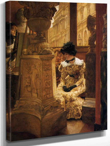 In The Louvre By James Tissot