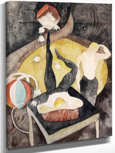 In Vaudeville Two Acrobat Jugglers By Charles Demuth By Charles Demuth