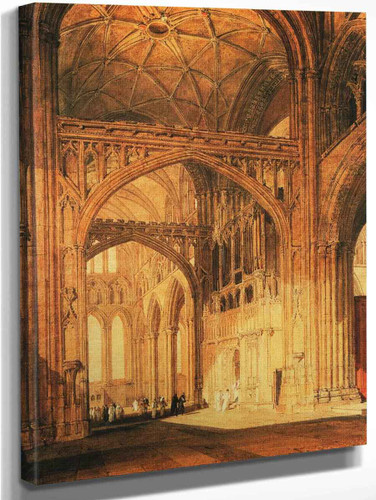 Interior Of Salisbury Cathedral By Joseph Mallord William Turner