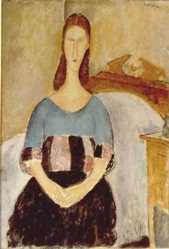 Jeanne Hebuterne, Seated By Amedeo Modigliani
