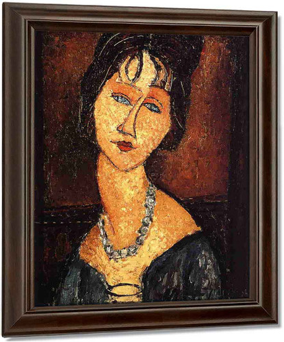 Jeanne Hebuterne With Necklace By Amedeo Modigliani