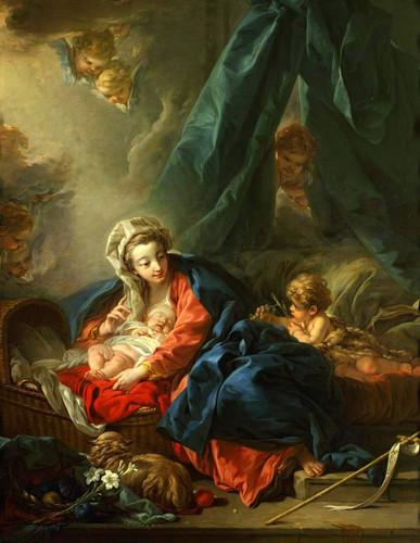 Jesus Child Sleeping By Francois Boucher