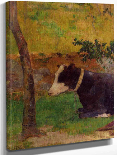 Kneeling Cow  By Paul Gauguin