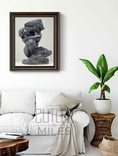 La Cariatide Tombee Portant Sa Pierre  By Auguste Rodin