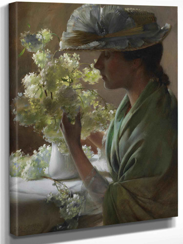 Lady With A Bouquet by Charles Courtney Curran