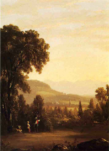 Landscape With Village In The Distance By Sanford Robinson Gifford