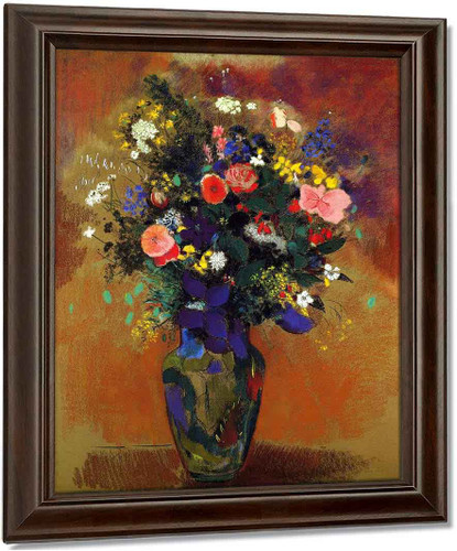 Large Bouquet Of Wild Flowers By Odilon Redon