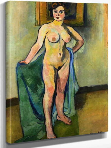 Large Nude With Painting By Suzanne Valadon