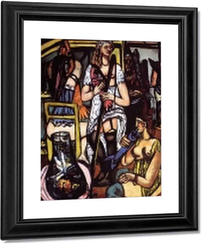 Large Painting Of Women Fisherwomen By Max Beckmann By Max Beckmann