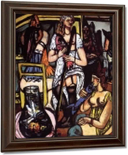 Large Painting Of Women Fisherwomen By Max Beckmann