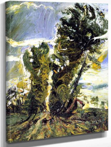 Large Poplars At Civry By Chaim Soutine