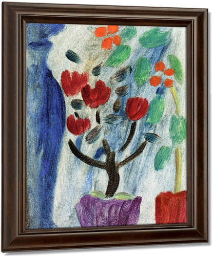 Large Still Life Flowers By Alexei Jawlensky