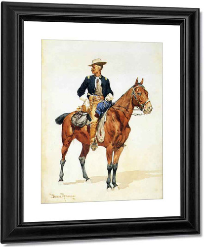 Lieutenant S. C. Robertson, Chief Of The Crow Scouts By Frederic Remington