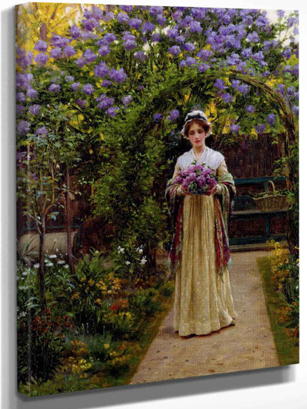 Lilac By Edmund Blair Leighton