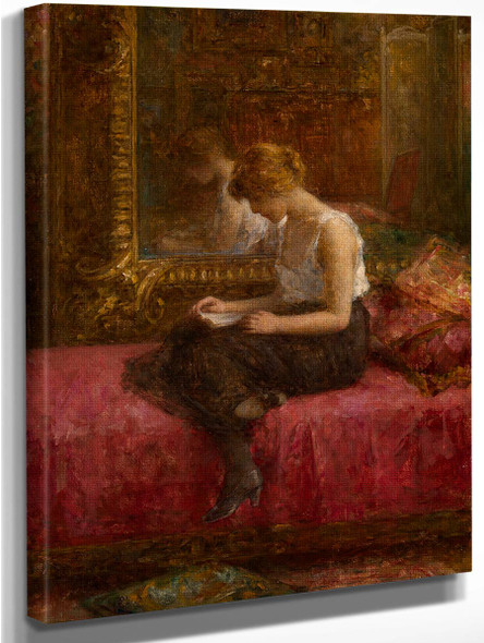 Literary Pursuits Of A Young Lady By Alexei Harlamoff