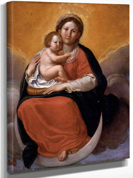 Madonna And Child By Francesco Albani By Francesco Albani