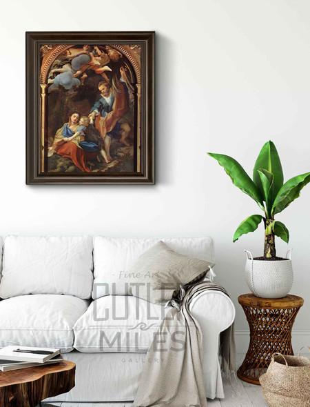Madonna Della Scodella By Correggio By Correggio