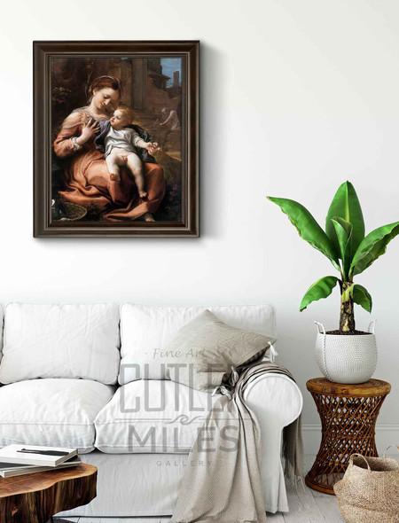 Madonna Of The Basket By Correggio By Correggio