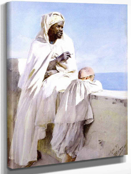 Man And Boy In Algiers By Anders Zorn