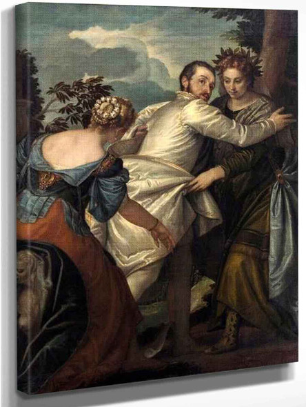 Man Between Virtue And Vice By Paolo Veronese