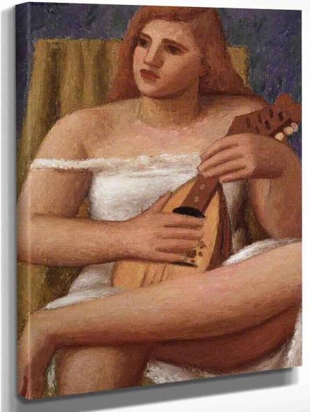 Mandolinist By Mark Gertler