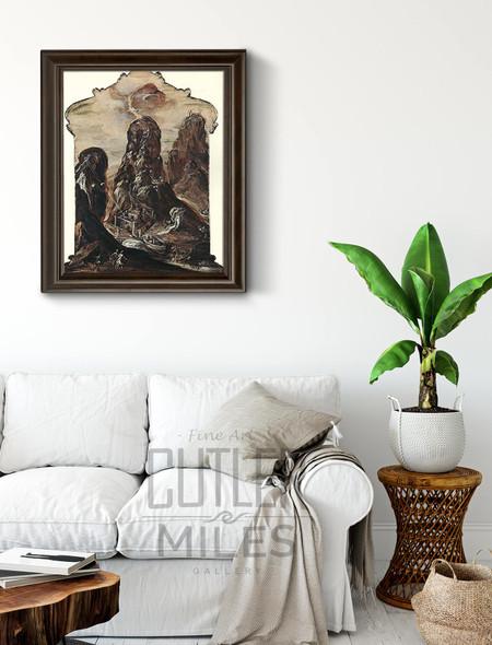Modena Triptych Mount Sinai By El Greco By El Greco