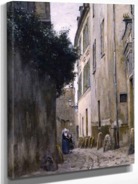 Montmartre, The Rue Saint Vincent By Stanislas Lepine