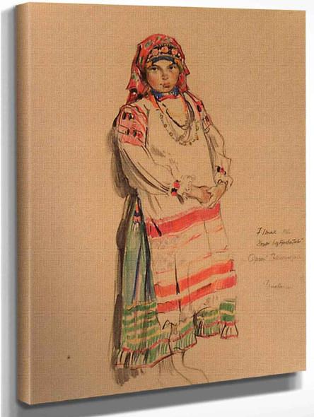 Mordovian Girl By Sergei Arsenevich Vinogradov Russian 1869 1938