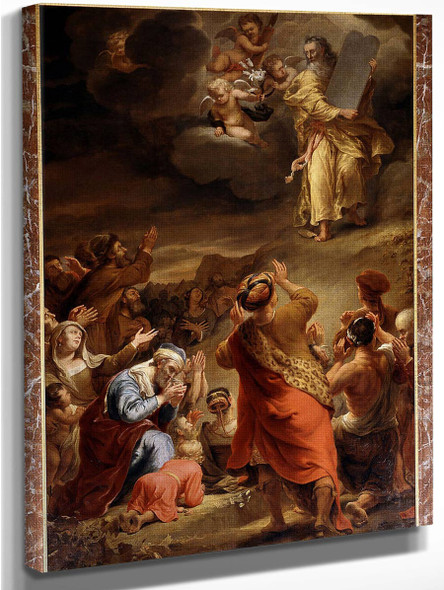 Moses Descends From Mount Siniai With The Ten Commandments By Ferdinand Bol