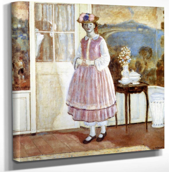 1830 Gown By Frederick Carl Frieseke Art Reproduction