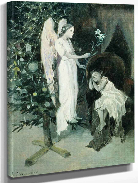 Natasha's Angel By Sergei Arsenevich Vinogradov Russian 1869 1938 Art Reproduction