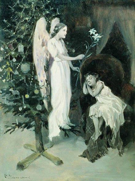 Natasha's Angel By Sergei Arsenevich Vinogradov Russian 1869 1938