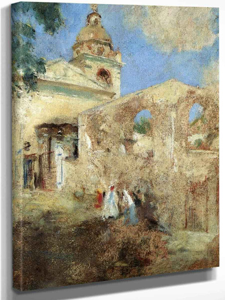 Near The Cathedral By Charles W. Hawthorne