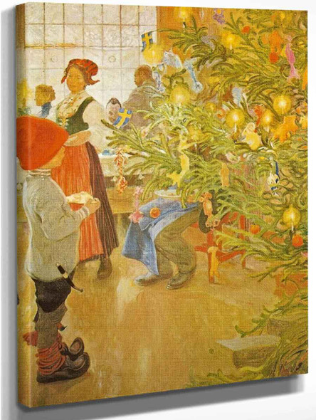 Now It's Christmas Again By Carl Larsson Art Reproduction