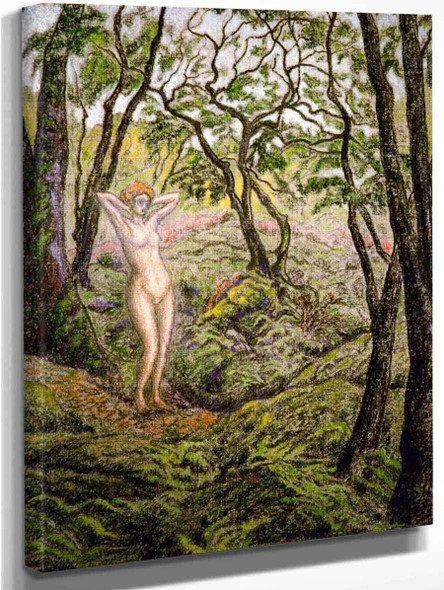Nude In The Forest By Paul Ranson
